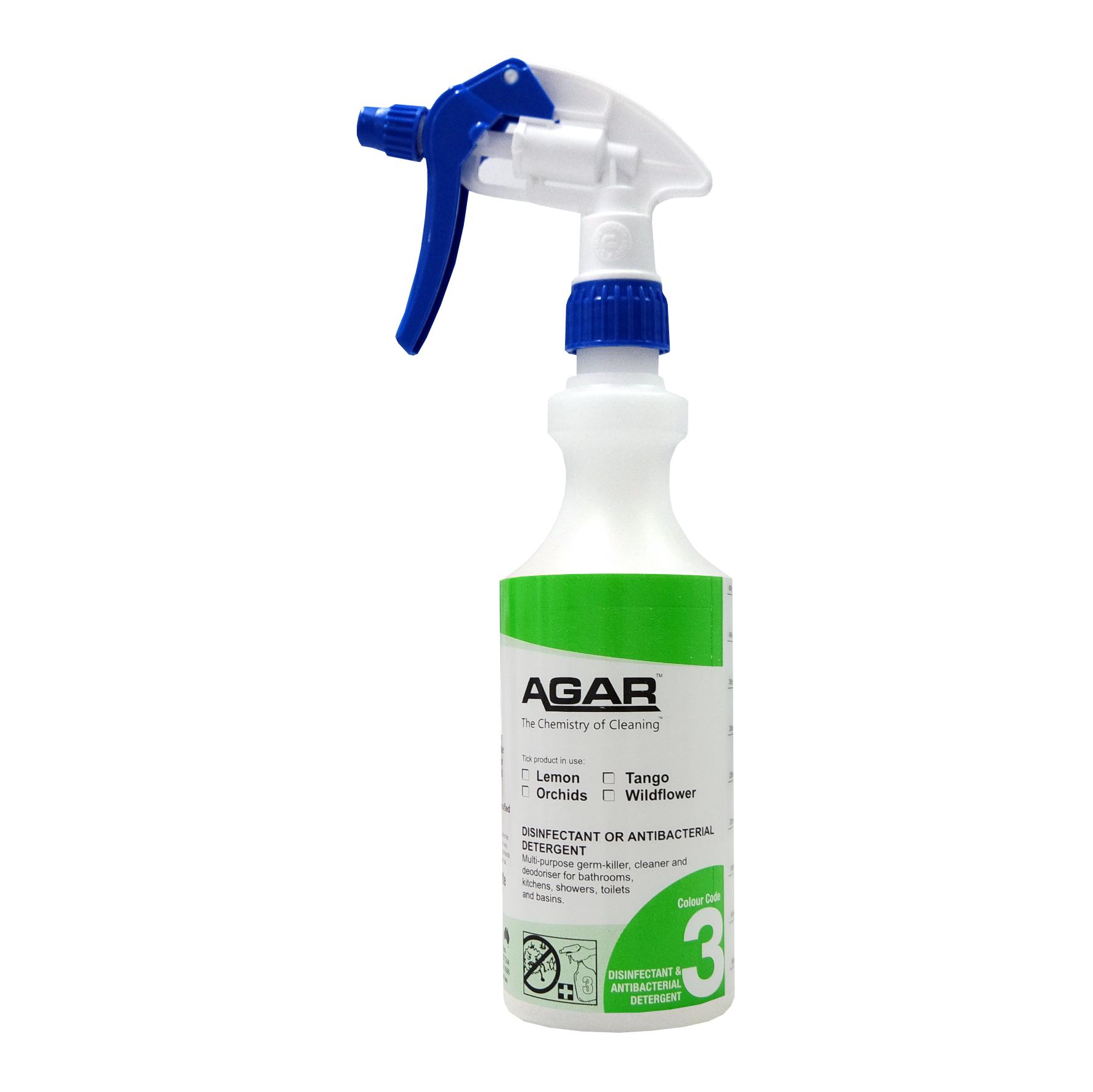 3 Disinfectant Spray Bottle 500mls