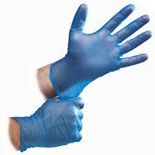 fit thin blue nitrile gloves
